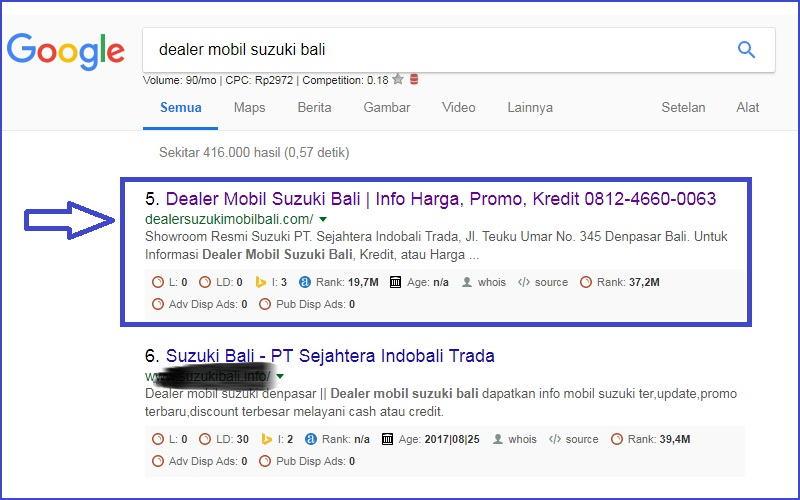 Website Deaeler Mobil Suzuki Bali