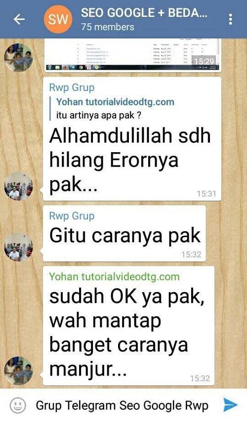 Grup telegram belajar seo google