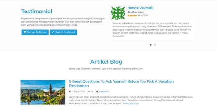 jasa pembuatan web seperti traveloka