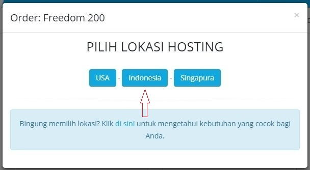 Pilih server Indonesia