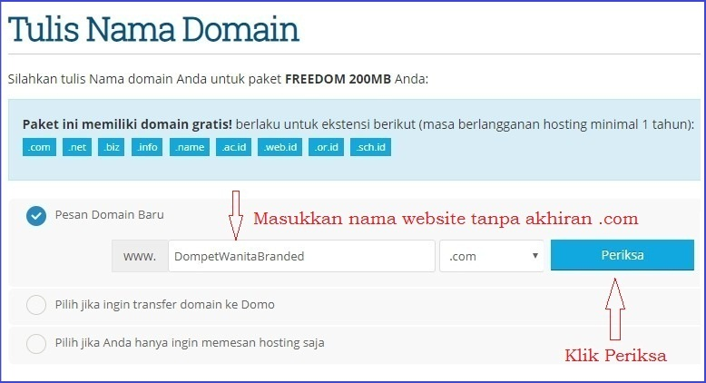 Tulis domain