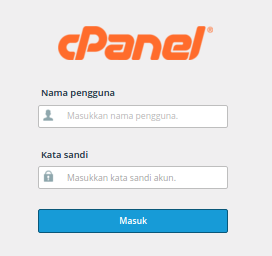 Form login ke cpanel