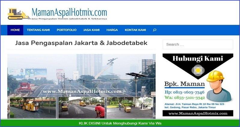 Contoh website kontraktor