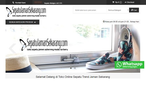 Portofolio jasa website toko online murah