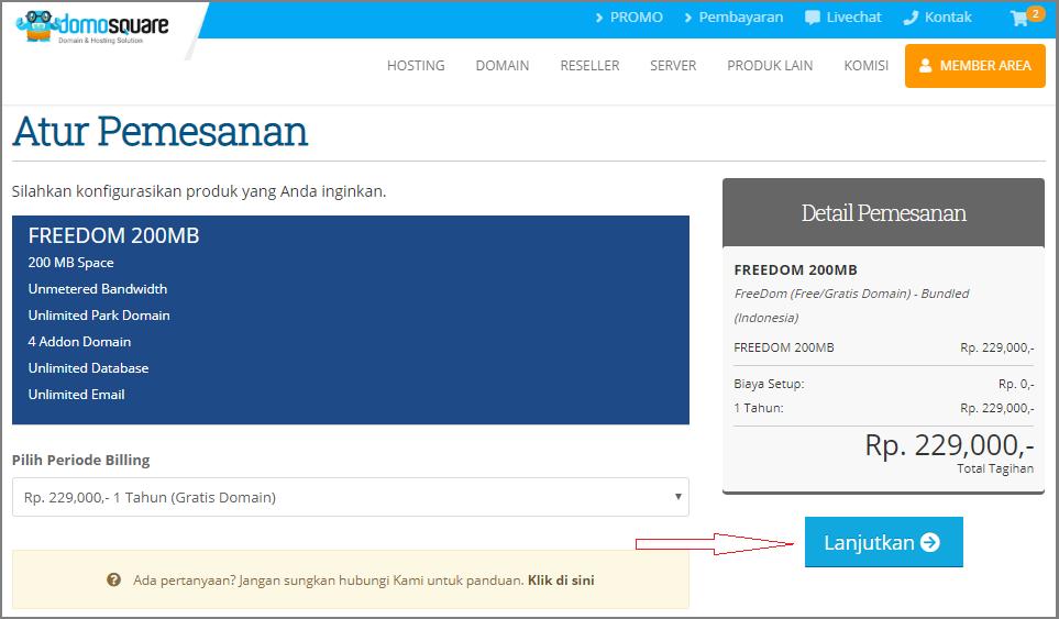 Cara membuat website untuk pemula klik lanjutkan