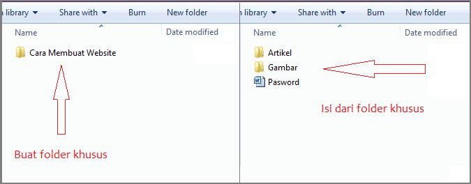 Folder tutorial cara membuat website sendiri