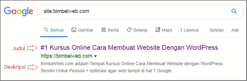 Hasil belajar buat website sendiri