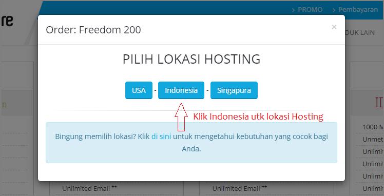 Pilih hosting Indonesia