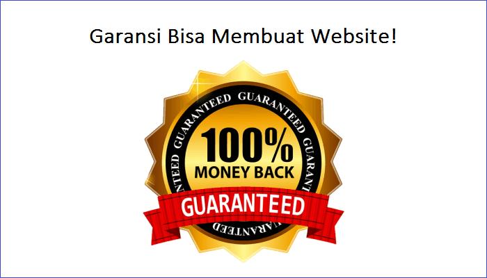 Garansi kursus bisa membuat website