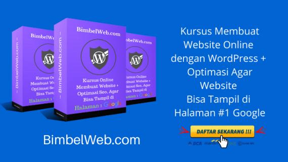 Kursus Membuat Website Online dengan WordPress ( Garansi Bisa )