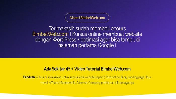 Materi Kursus Website Online