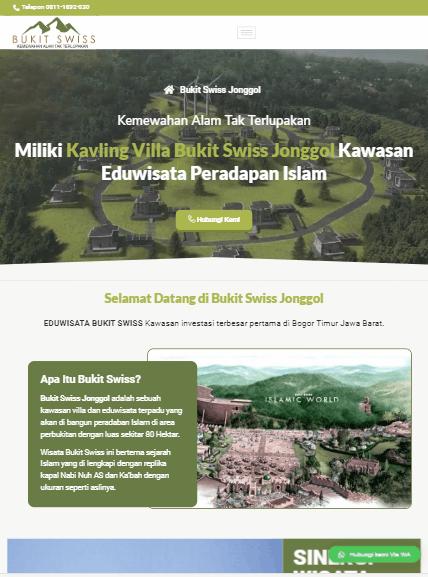 demo jasa landing page murah