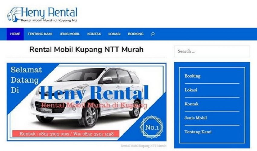 Demo Jasa Website Rental Mobil